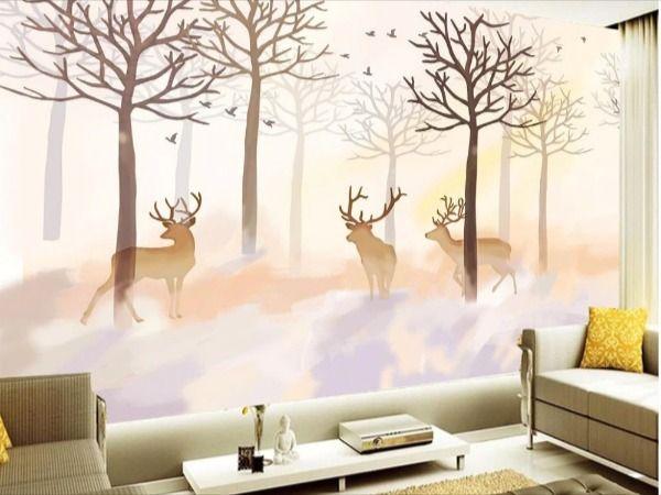 Customized Wallpaper Classic Wallpaper Wall Wallpaper Deer Wallpaper