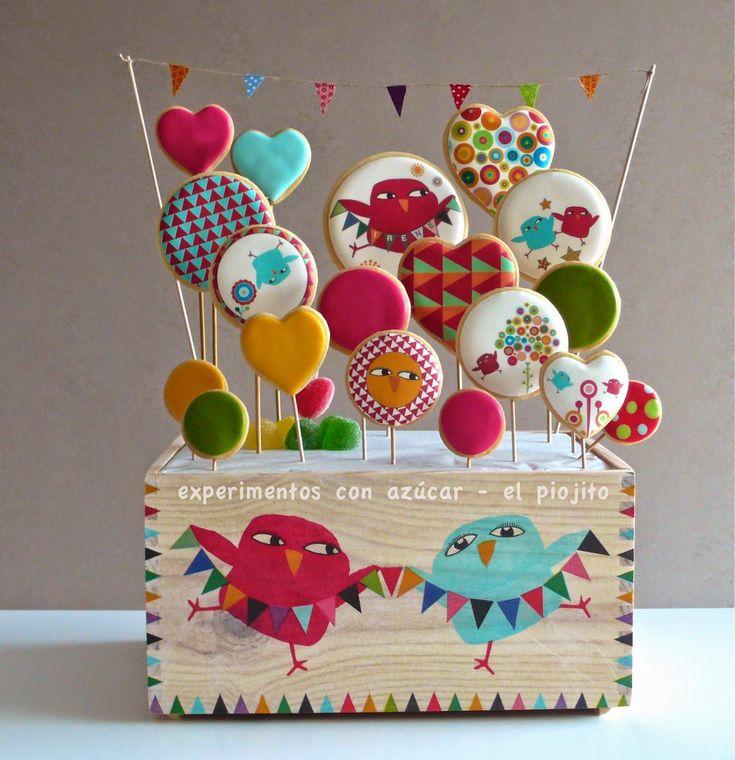Experimentos con azúcar: Cumpleaños. galletas decoradas