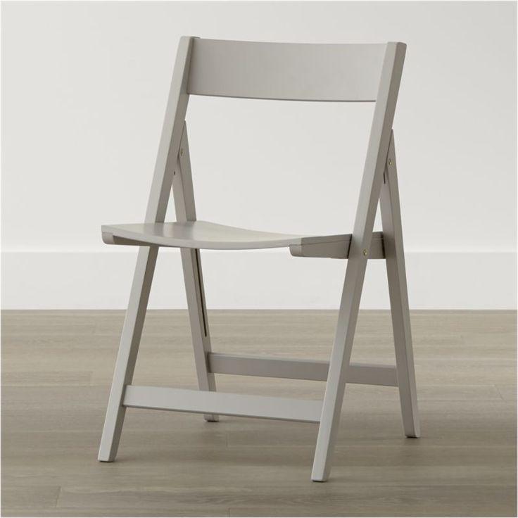 crate u0026 barrel spare dove folding dining chair