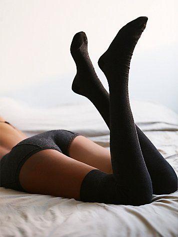 Greenwich Thigh Hi | Super soft thigh high. Perfect with a mini dress.