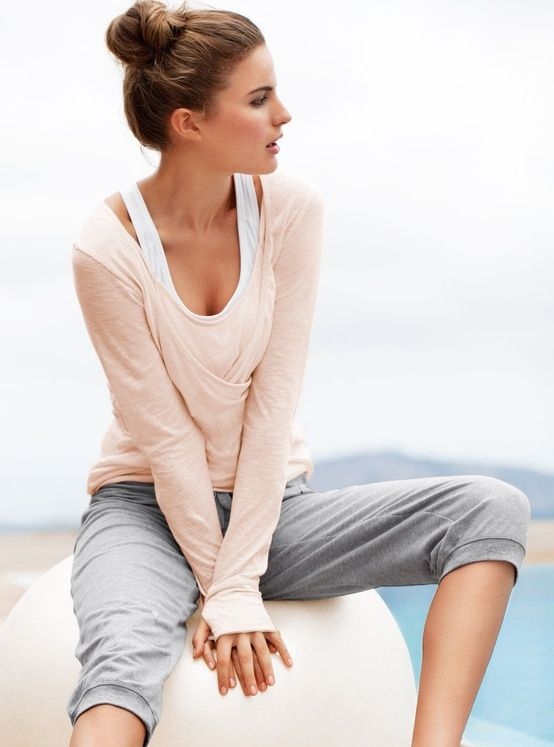 Live in your workout clothes with thumbholes and layers.