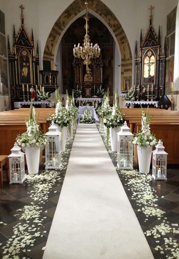 Church Decor für Hochzeit: 60 kreative Ideen inspiriert zu werden