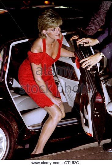 Princess Diana arrives at the  Palais de Correos for a Charity dinner in central Buenos Aires late November 24. Diana is on the second day of her four-day visit to Argentina. She is expected to visit the southern wilderness of Patagonia to see the whales and sip tea with descendents of Welsh settlers - Stock Image