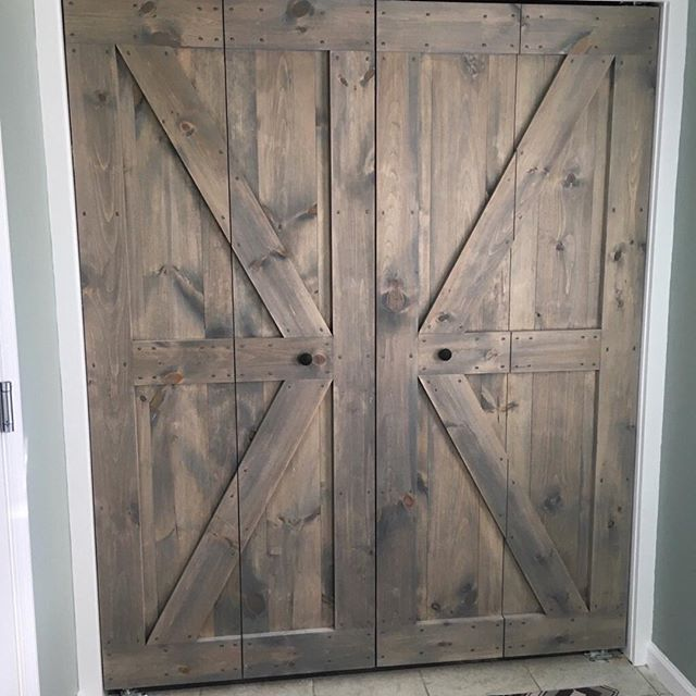 Check out our gorgeous barn door bi-folds! Don't have the