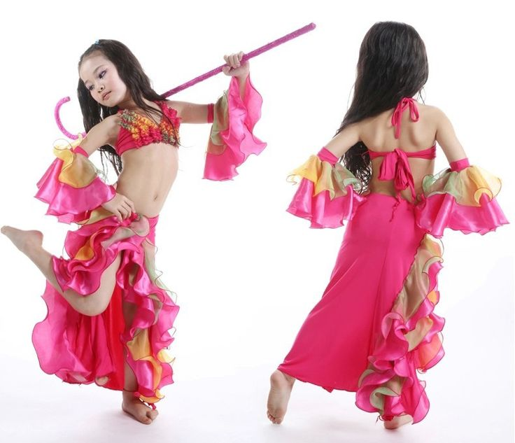 US $28.70 / piece 2015 Kids Belly Dancer Costume Top&Skirt*Handress Roupa De Danca Do Ventre Children Dancewear Belly Dancing Girls Indian Clothes