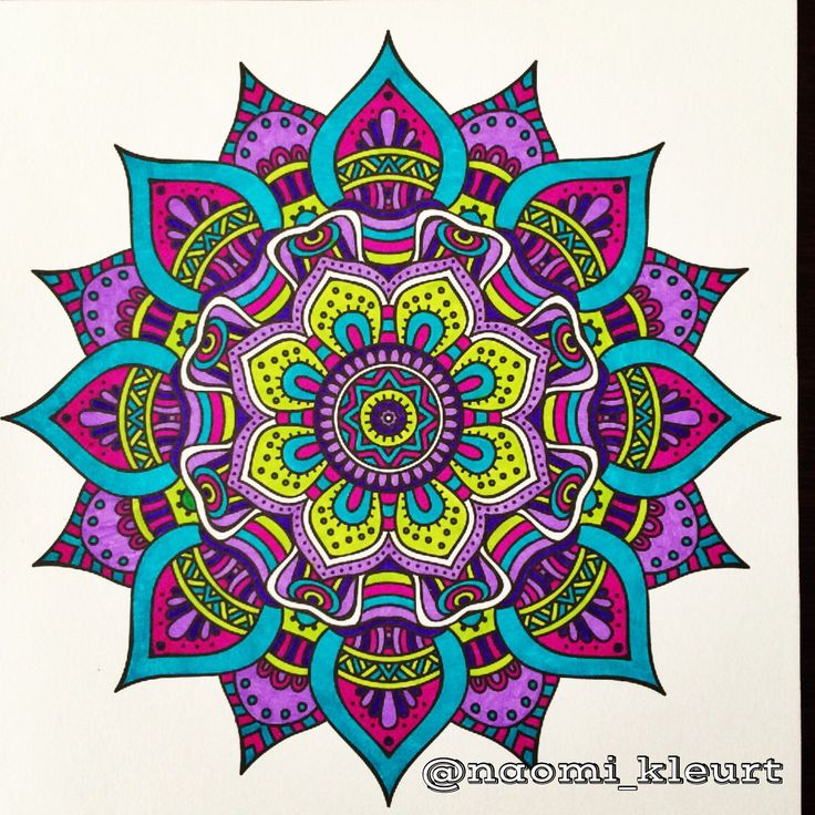 Kleuren voor volwassenen, het enige echte mandalakleurboek om te versturen, colouring for adults, coloriage, stabilo, kleurboek voor volwassenen, mandala, mandalart, naomi_kleurt