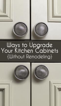 Upgrade your kitchen cabinets without remodeling.