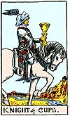 KNIGHT OF CUPS. Romantic, fanciful, over sensitive.