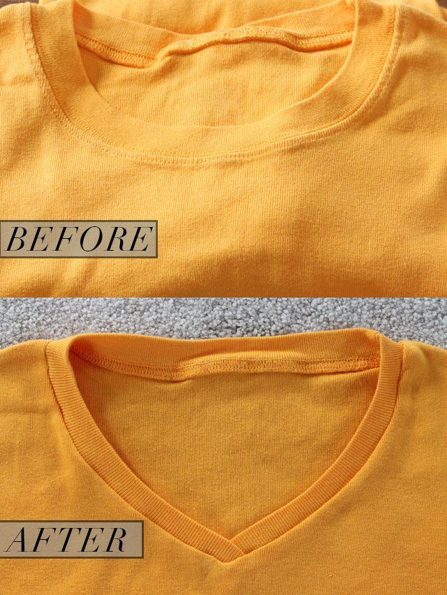 How to Turn a Crew Neck T-Shirt Into a V-Neck   eHow