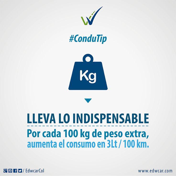 Lleva sólo lo indispensable, no sobrecargues la capacidad de tu vehículo.