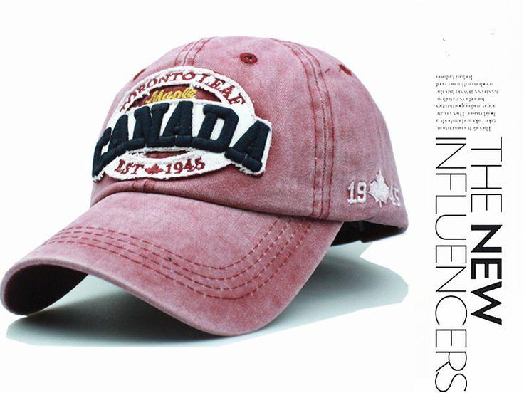 fall brand Baseball Cap Snapback hat letter canada embroidery casquette cap bone gorras Hat for men women wholesale