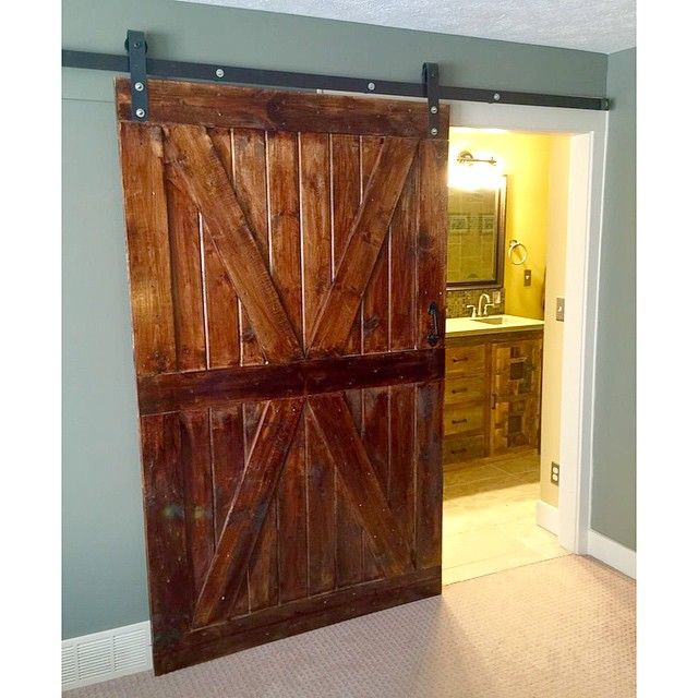 This beautiful x barn door makes a great bedroom to for Bedroom barn door hardware