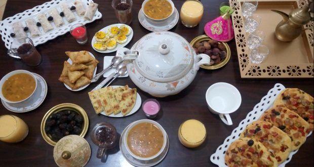 روتيني في تحضير مائدة إفطار أول يوم في رمضان اقتراحات و أفكار Oumhidaya Food Breakfast