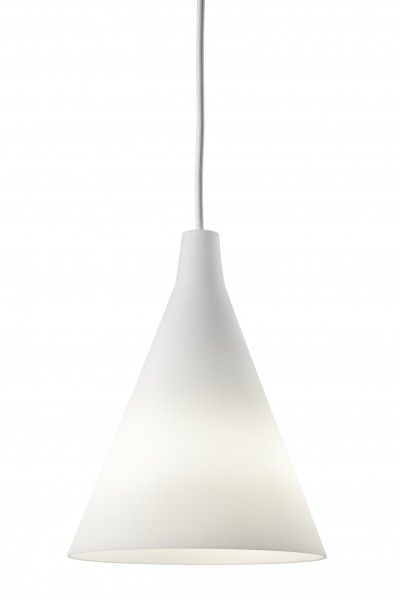 Reissued: Tapio Wirkkala's TW002 satin opal glass light pendant from 1951, designed for the Finnish exhibit at Milan.  His first of 100 lighting designs.  Reissued by Artek, Finland.