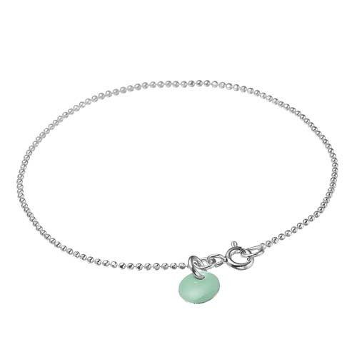 ENAMEL bracelet, sterling silver, mint green