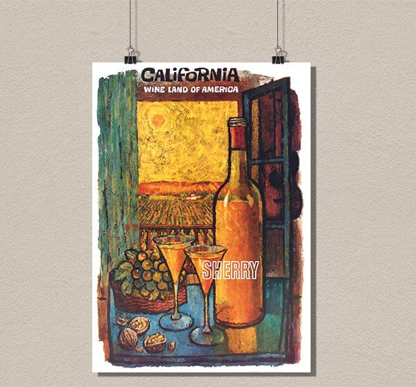 California Travel Print - Vintage Food Poster Wine Print Kitchen Decor Kitchen Wall Art Design Home Decor Wine Poster BUY 3 GET 1 FREE by VintageWallGraphics on Etsy https://www.etsy.com/listing/232448523/california-travel-print-vintage-food