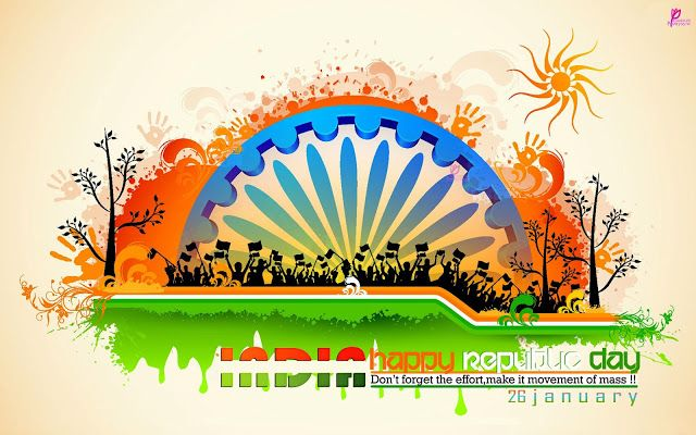 26 January Republic Day Card Images with Indian Republic Day Messages and Wallpaper