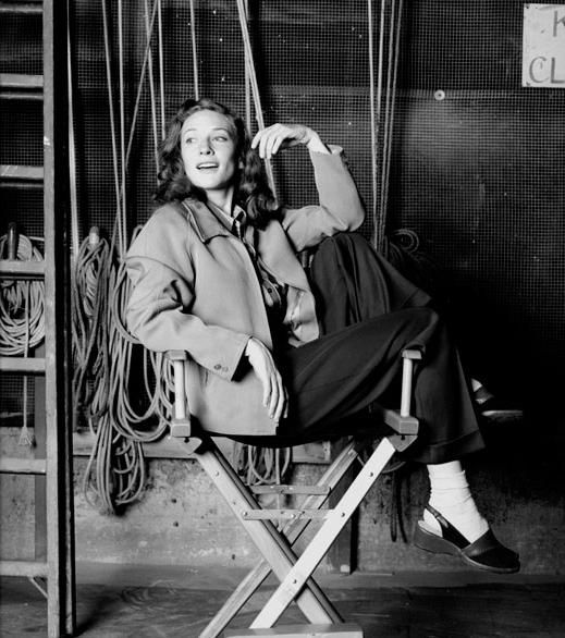 iheartcate:  Cate Blanchett on the set of 'The Aviator' | by Brigitte Lacombe, 2003