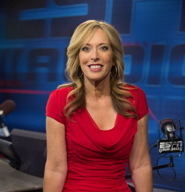 Blonde sports announcer nude
