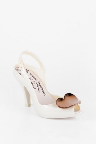 Melissa Vivienne Westwood Anglomania x Melissa Lady Dragon V Pumps in Nude Heart $138 at www.tobi.com