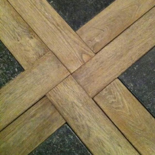 flooring tile and wood combination