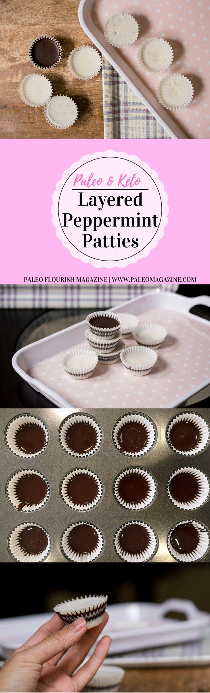 Layered Peppermint Patties Recipe [Paleo, Keto] #paleo #recipes #glutenfree http://paleomagazine.com/paleo-peppermint-patties-recipe