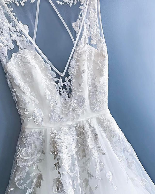 Oh. My goodness. This is absolutely perfect. I love this wedding dress | lace illusion neck wedding dress