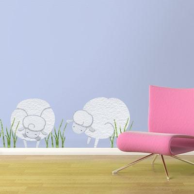 I think I am going to randomly stencil farm animals throughout my house! ha
