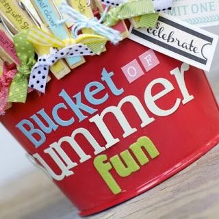 ~ Summer Bucket List~ decorate metal bucket and clothes pin. Clothes pin gets pulled and tossed into the bucket when done