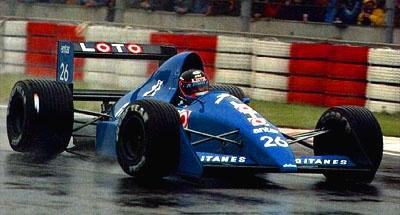 Olivier Grouillard, Imola 1989, Ligier JS33