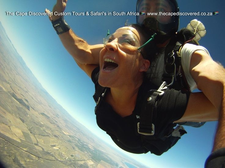 Tandem skydiving with Table Mountain and the Atlantic Ocean as part of your views...exhilirating!