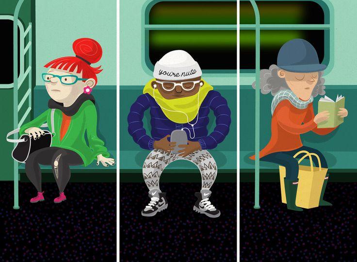 Subway Scene, #metro, #people, #train, #travelling, #commuting, #citylife, #newyork, #individuals