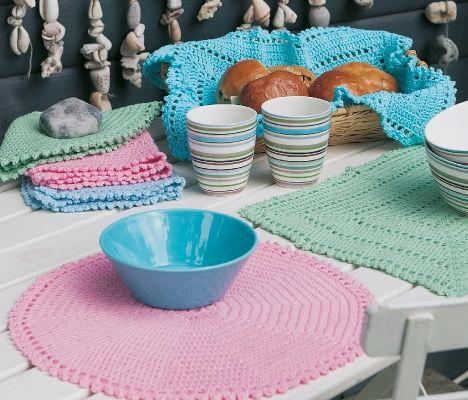 Søde hæklede servietter - Hjemmet DK