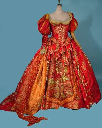 """1986 JUNE ANDERSON  Stage Opera Gown worn in  Handel's """"ORLANDO"""". The gown, designed by Mr. Stennett, weighs 9 pounds and the half under slip  weighs another 9 pounds!"""