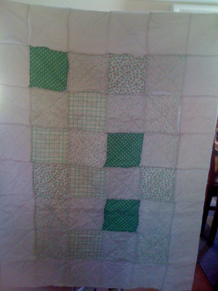 Another baby quilt I made, shabby style