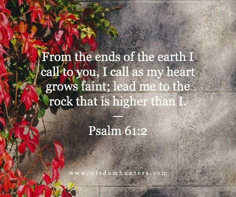 Thoughts from daily Bible reading for today – April 3, 2016 From the ends of the earth I call to …
