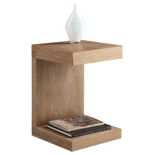 Aurelle Home Carson Oak C-Shaped End table - Overstock Shopping - Great Deals on Aurelle Home Coffee, Sofa & End Tables