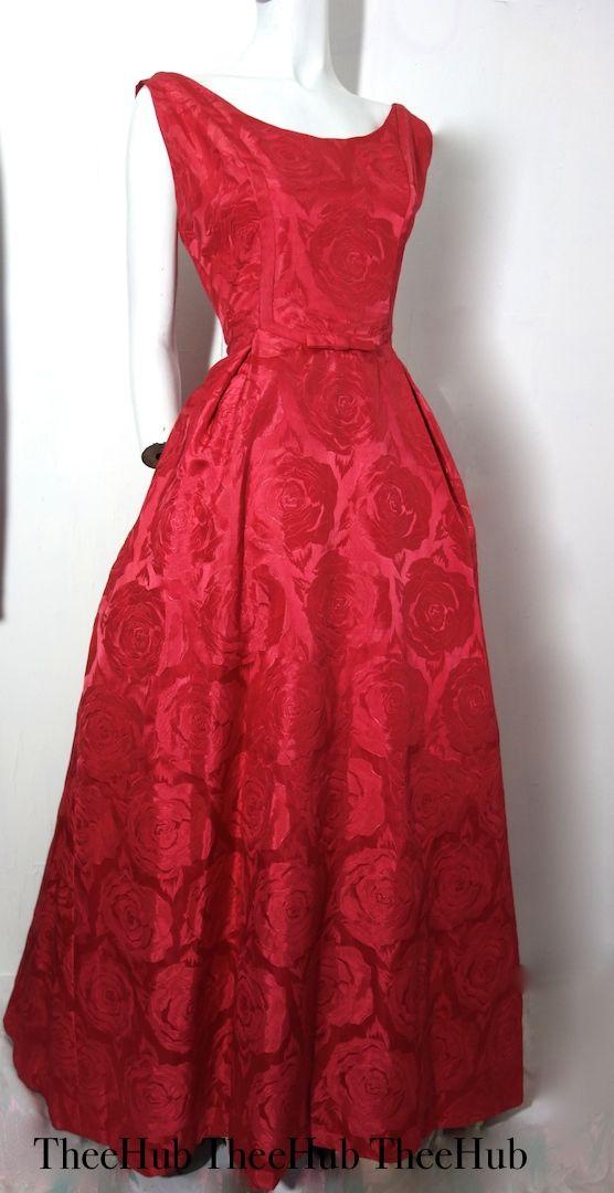 1950s english rose garden ball gown