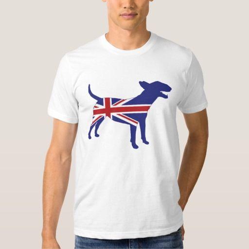 Het Engelse Bull terrier/T-shirt van Union Jack