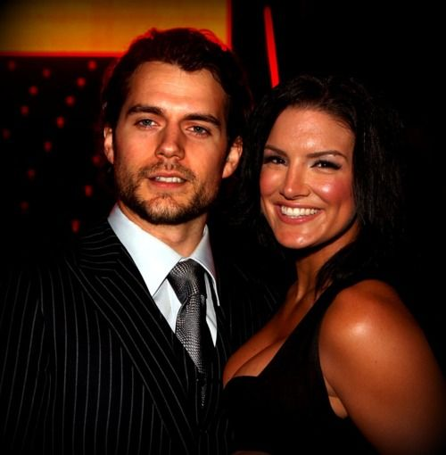 Henry Cavill with girlfriend Gina Carano.