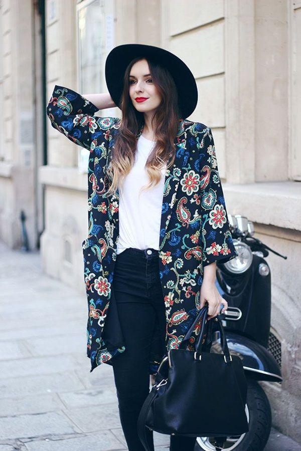 Sweet Kimono Chic Outfit Ideas (18)