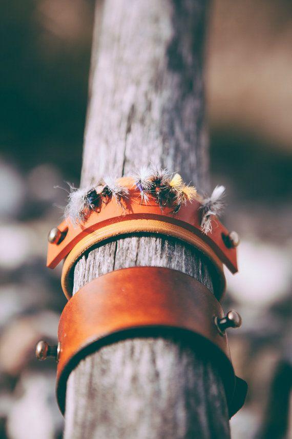 ORIGINAL Fly Fishing Leather Cuff by FlyFishingCuffs on Etsy