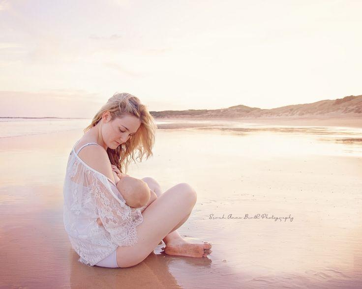 Breastfeeding outdoors photography