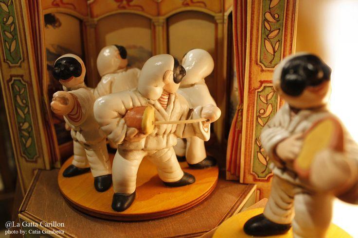 Carillon legno Pulcinella -  Pulcinella wooden box