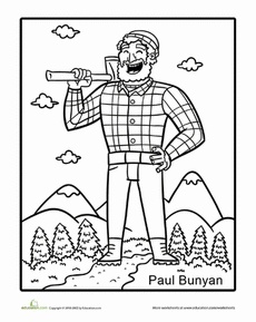 Tall Tales: Paul Bunyan Worksheet