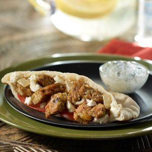 MorningStar Farms® Mediterranean Gyros Recipe – made with our Mediterranean Chickpea Burger