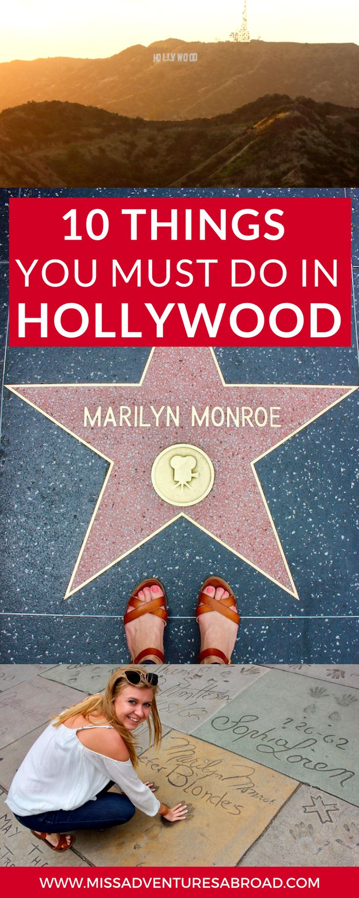10 Touristy Things To Do In Hollywood, California · Discover the top 10 things to do In Hollywood, California from the Hollywood Sign to the Walk of Fame and more! You won't want to miss these star-studded attractions the next time you are in LA.
