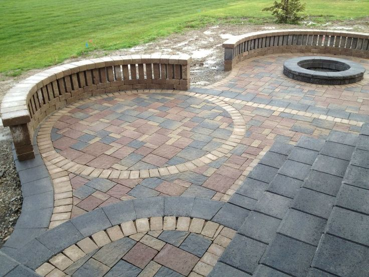 Awesome Cool Brick Stone Patio Floor With Artistic Pattern : Brilliant Ideas To  Design Your Own Patio