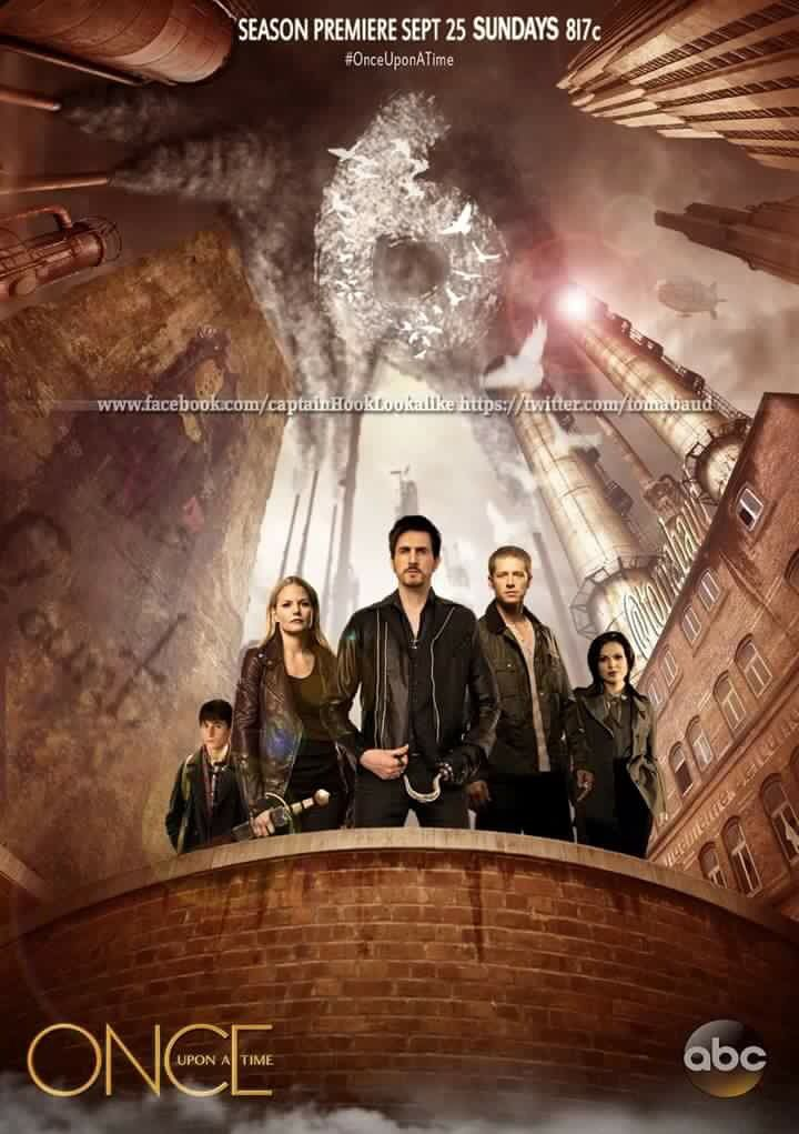 Awesome Regina Charming Hook Emma Henry (Lana Josh Colin Jen Jared) on an awesome poster for the awesome #Once S6 Fall Season premiere E1 #TheSavior airs Sunday 9-25-16