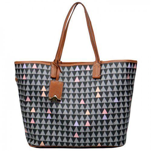 Bolsa Casual Nina Triangle Schutz - Caramelo/Preto